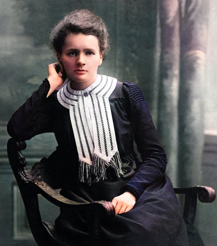 unique photo marie curie couleur