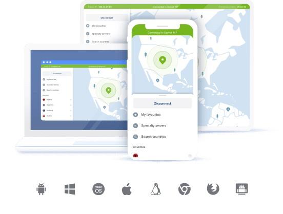 NordVPN sur mobile, desktop ou portable