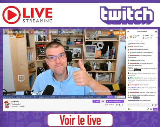 Korben sur Twitch