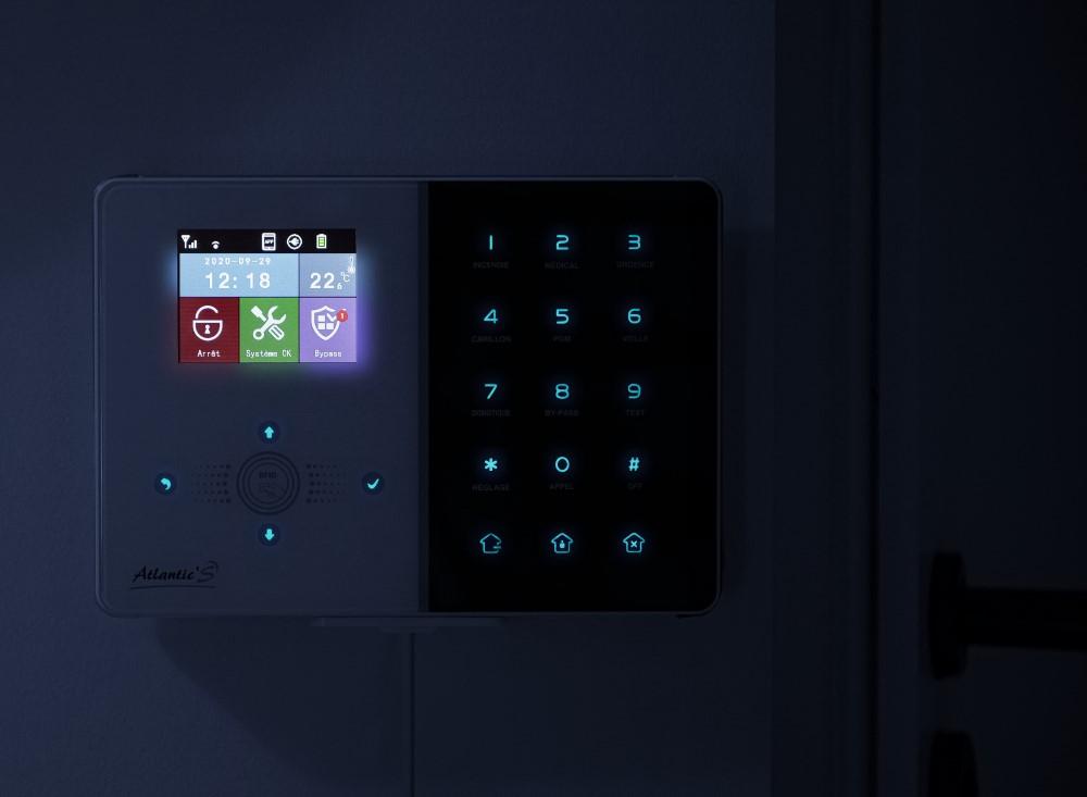 Interface de la centrale d'alarme IPEOS