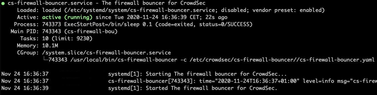 CrowdSec sort sa v.1.0 : Guide d'installation