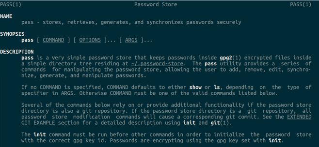 gestionnaire de mots de passe en ligne de commande Pass