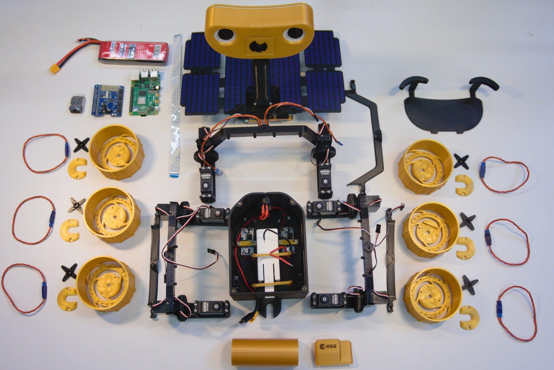 Un Rover Martien à imprimer en 3D