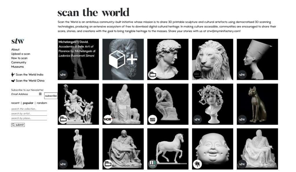 Scan The World – Des sculptures et artefacts à imprimer en 3D