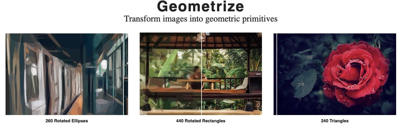 Geometrize – Changer une photo en formes géométriques