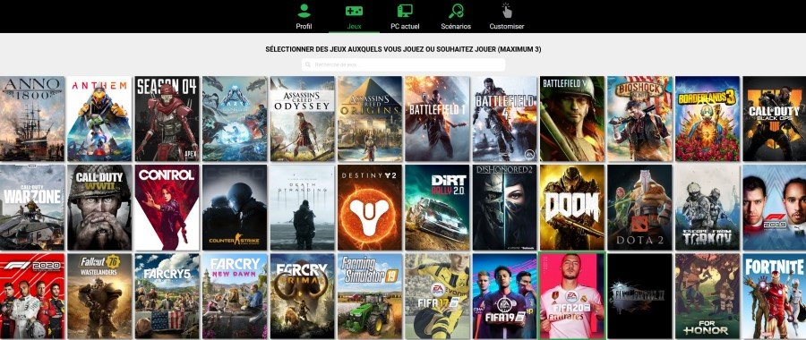 Les jeux pour configurer votre ordinateur avec PC or Cloud