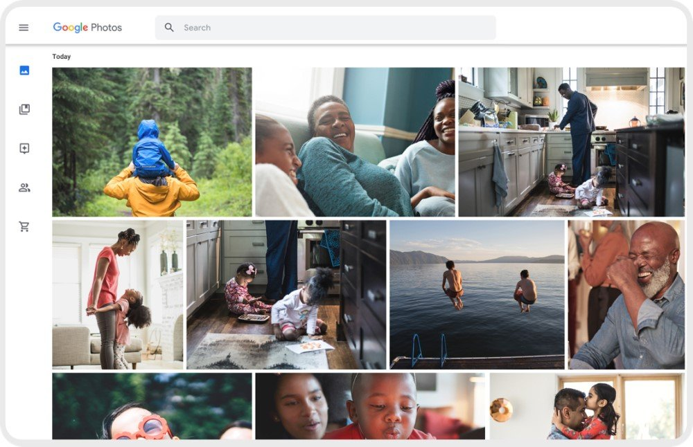 Interface Google Photos
