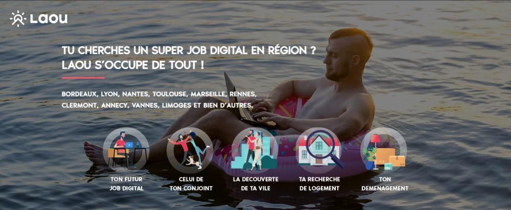 Laou pour un super job dans le digital en région