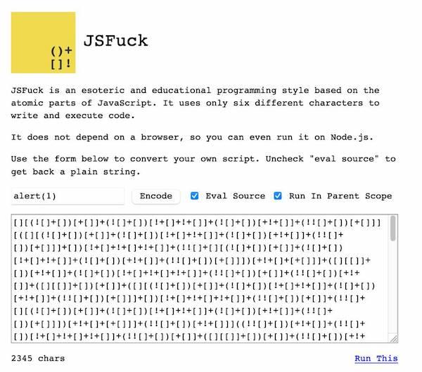 Démo de JSFuck