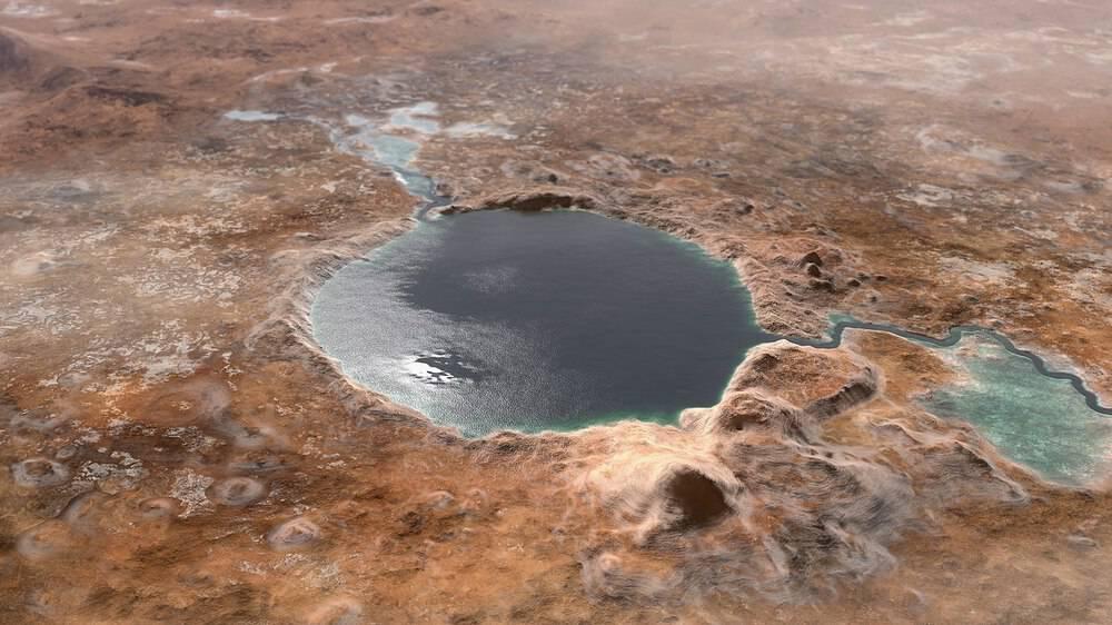 cratère jezero mars