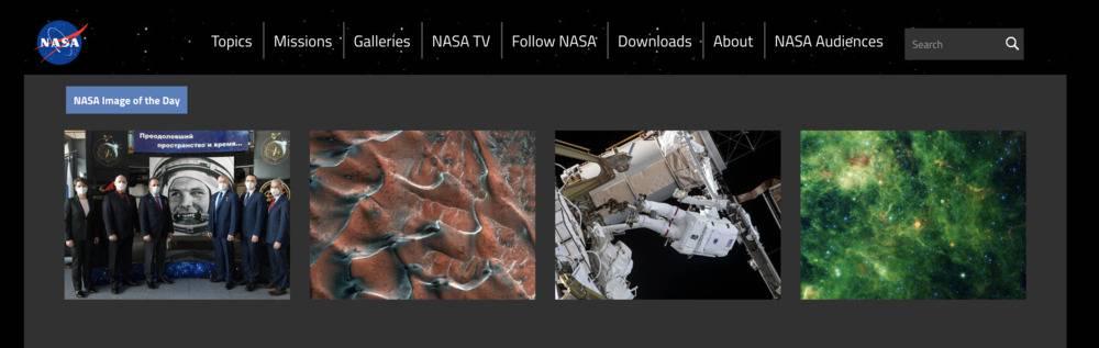 Photos du jour de la NASA