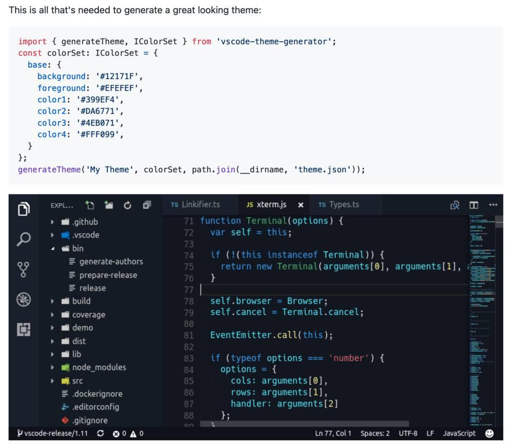 vs code theme generator