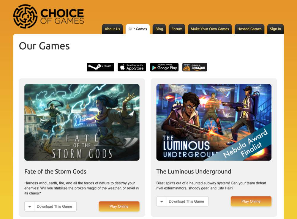 choice script choice game site