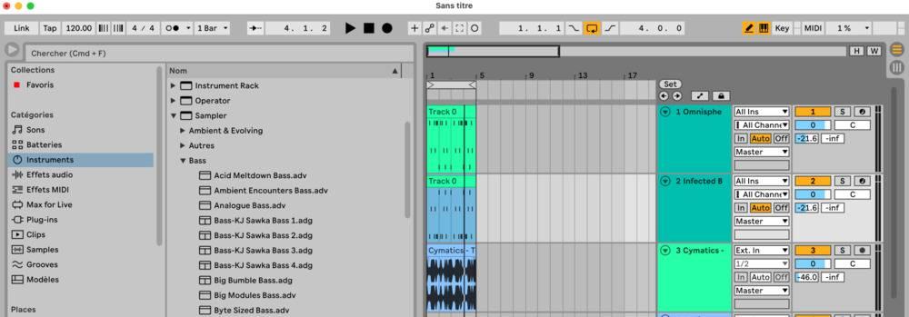 mélodie importée dans Ableton Live 11