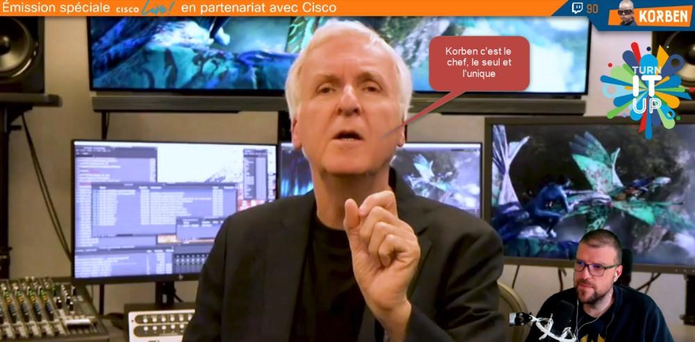 Intervention de James Cameron lors de l'event Cisco Live 2021