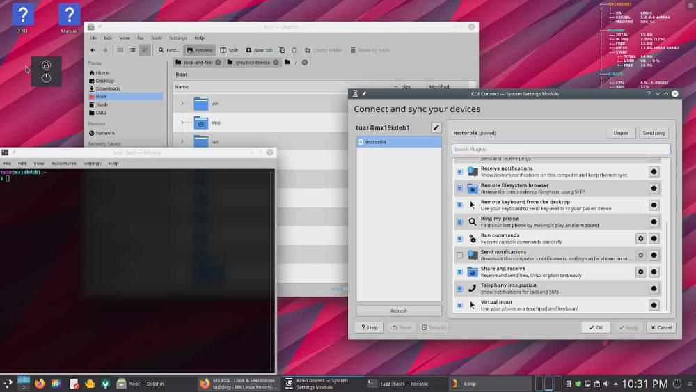 bureau MX Linux