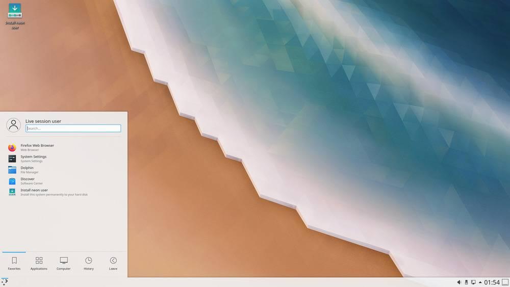 bureau KDE Neon