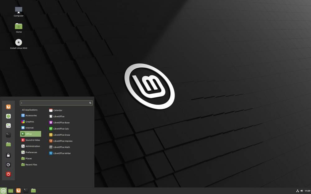 bureau linux mint