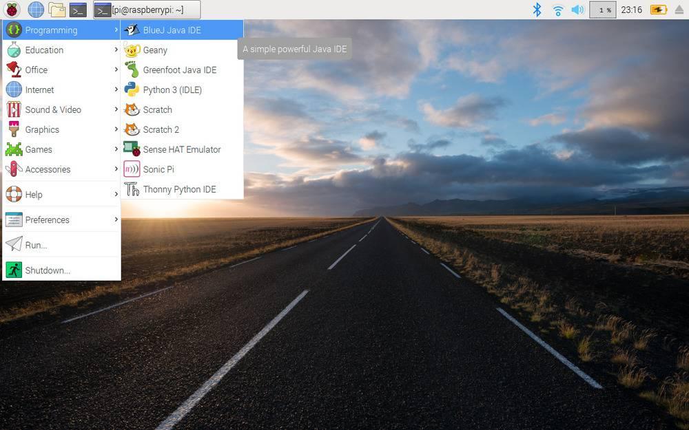 bureau Raspberry Pi OS