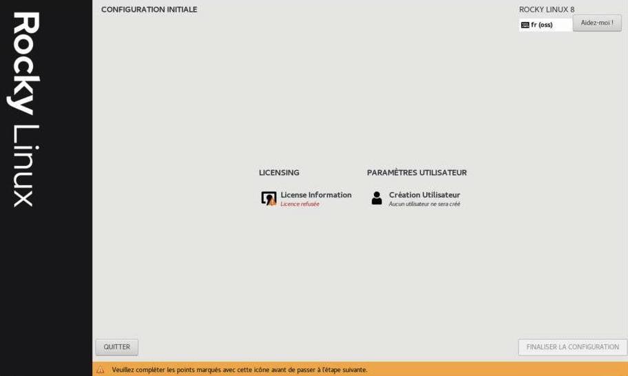 installation de rocky Linux